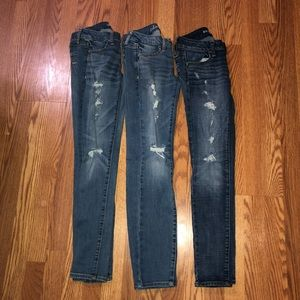 Lot Of Three American Eagle Jeans Size 0